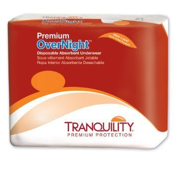 Tranquility Premium OverNight Disposable Absorbent Underwear Medium (18 Count)