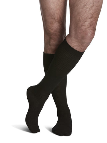 Casual Cotton, 15-20mmHg Compression, Knee-High, Women/Men