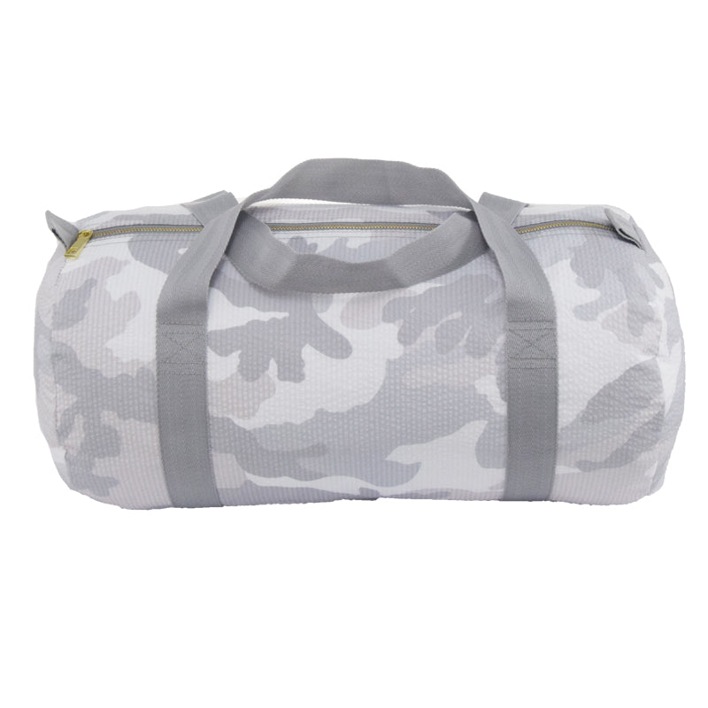 Mint Snow Camo Seersucker Medium Duffle
