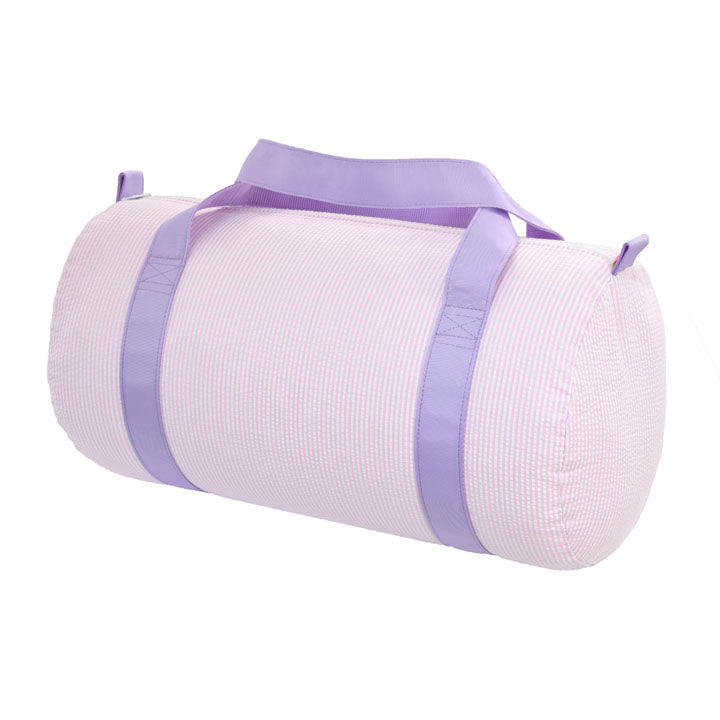 Mint Lilac/ Pink Seersucker Medium Duffle