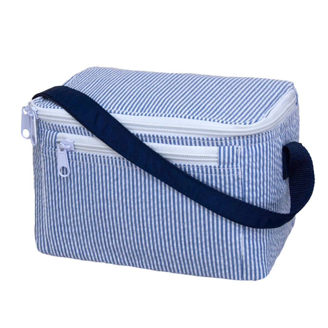Mint Navy Seersucker Lunchbox