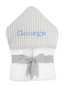 Grey Gingham Towel