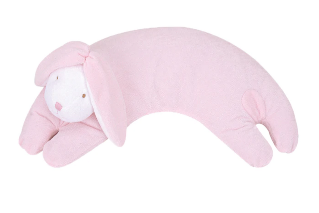 Pink Bunny Curved Pillow