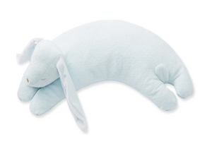 Blue Bunny Curved Pillow