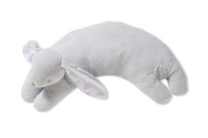 Grey Bunny Curved Pillow