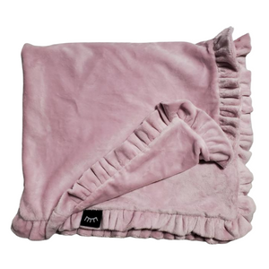 Minky Ruffle Edged Blanket