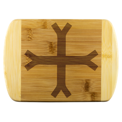 Crusader Cross Wood Cutting Board