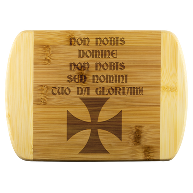 Non Nobis Domine! + Templar Cross Wood Cutting Board
