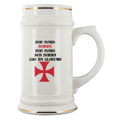 Templar Cross - Templar Motto Beer Stein