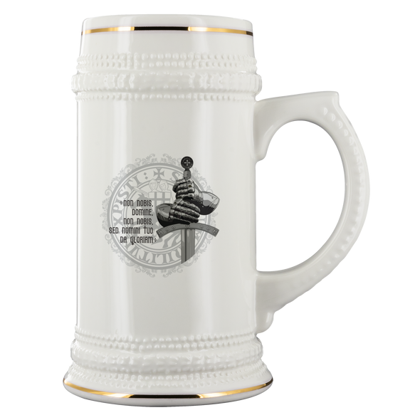 Knight Sword - Latin Message Beer Stein