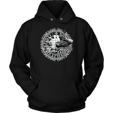 Knight Sword - Latin Message Unisex Hoodie