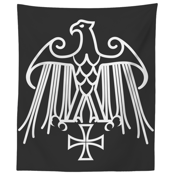 Geraldic Eagle and Templar Cross Wall Tapestry