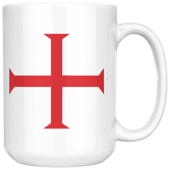 Red Order of Christ Cross White 15oz Mug