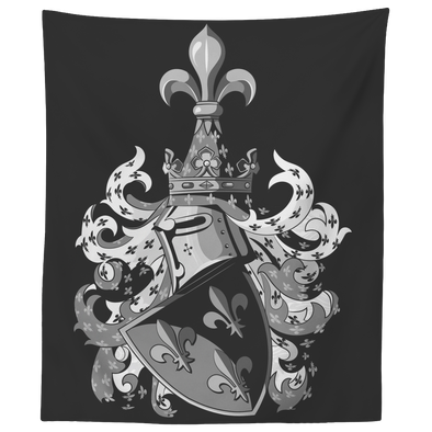 Knightly Coat of Arms Wall Tapestry