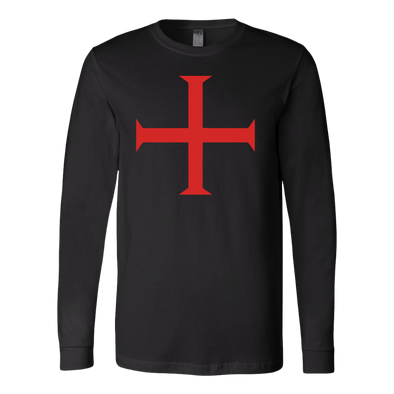Order of Christ Cross Canvas Long Sleeve Shirt