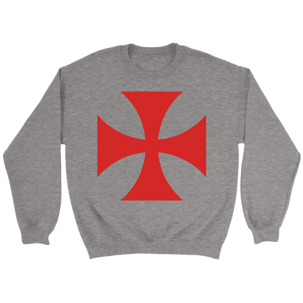 Red Templar Cross Crewneck Sweatshirt