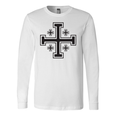 Jerusalem Cross Canvas Long Sleeve Shirt
