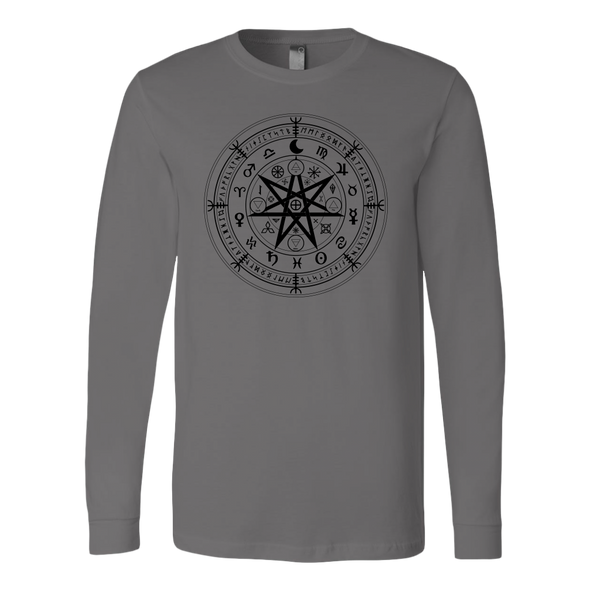 Wiccan Symbol of Protection Canvas Long Sleeve Shirt