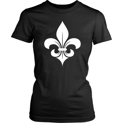 Fleur De Lys White District Womens Shirt