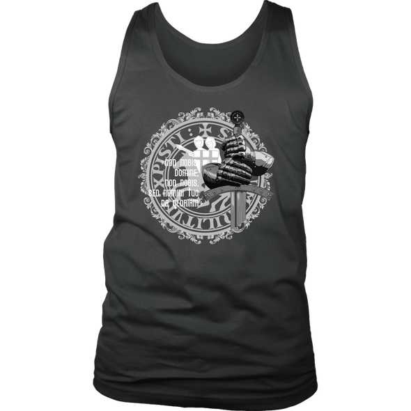 Knight Sword - Latin Message District Mens Tank