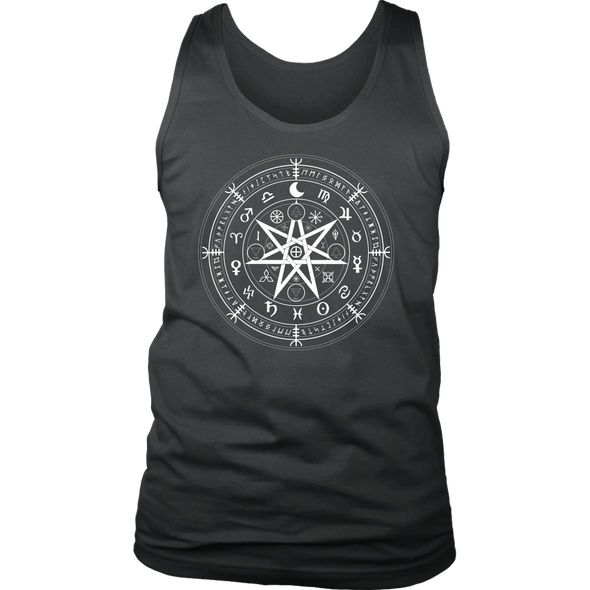 Wiccan Symbol of Protection District Mens Tank