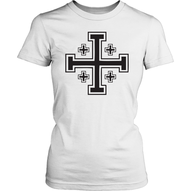 Black Jerusalem Cross District Womens Shirt