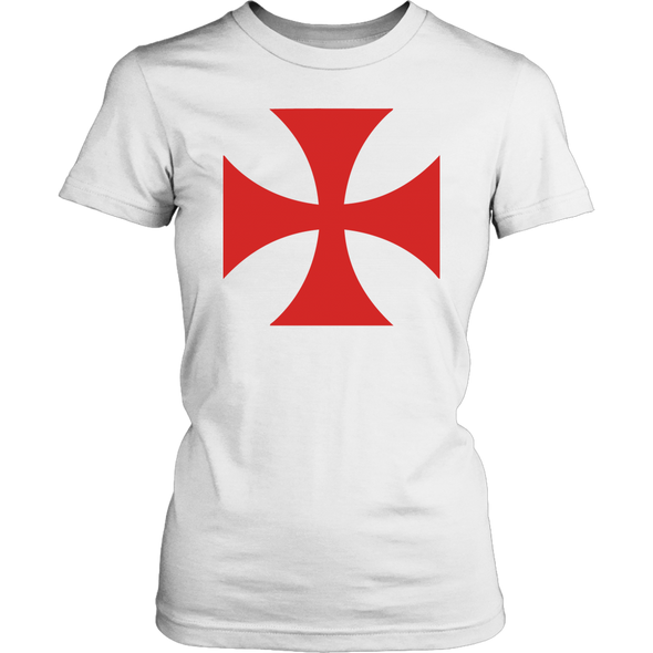 Red Templar Cross District Womens Shirt