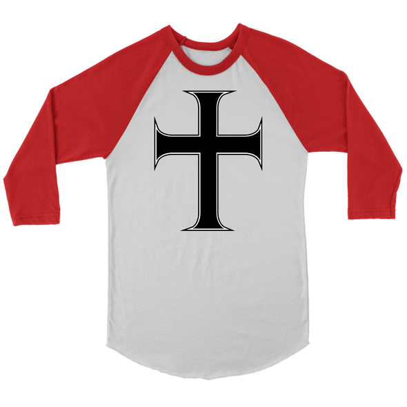 Cross of Saint John Canvas Unisex 3/4 Raglan