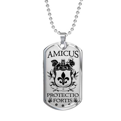 Amicus Protectio Fortis Dog Tag