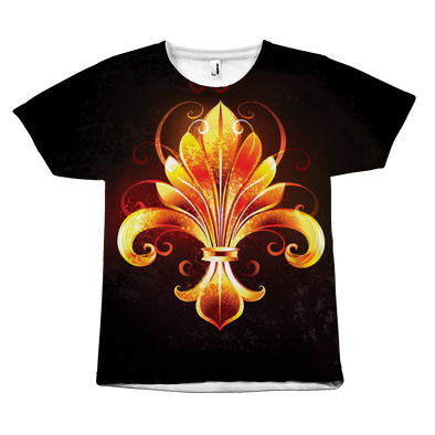 Fiery Fleur De Lys All Over Print Tee