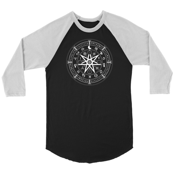 Wiccan Symbol of Protection Canvas Unisex 3/4 Raglan