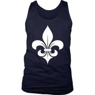 Fleur De Lys White District Mens Tank