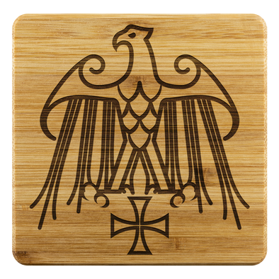 Geraldic Eagle Templar Cross Coasters