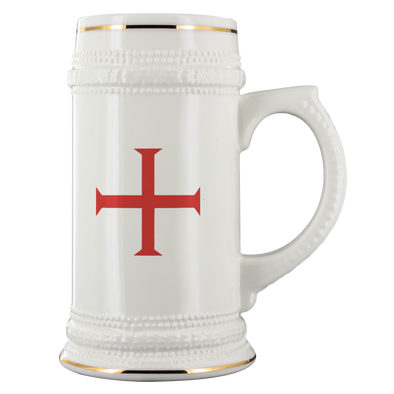 Red Order of Christ Cross Beer Stein