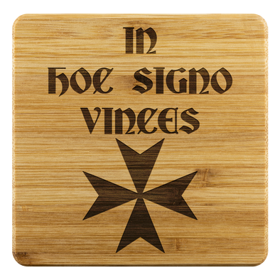 In Hoc Signo Vinces + Maltese Cross Coasters