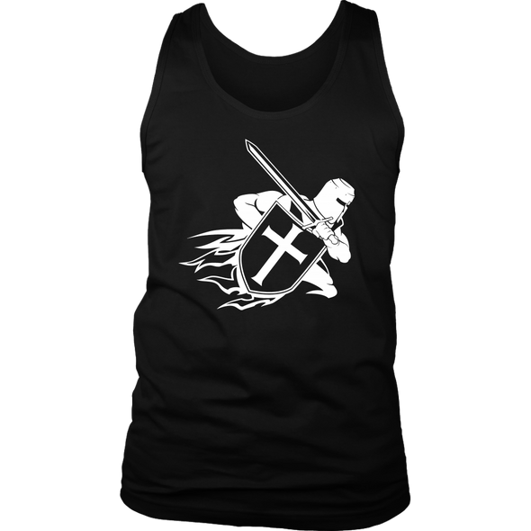 Crusader White District Mens Tank