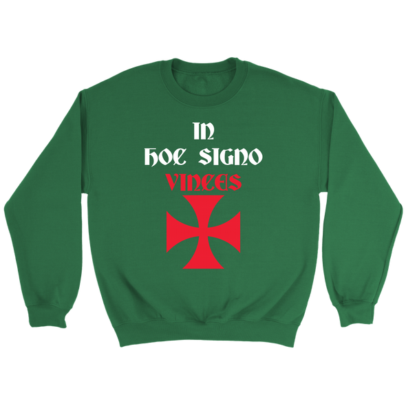 In Hoc Signo Vinces + Templar Cross Crewneck Sweatshirt