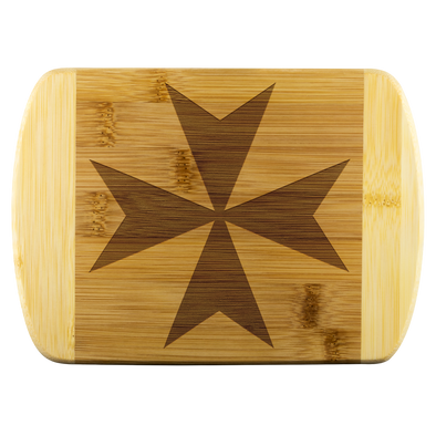 Maltese Cross Wood Cutting Board