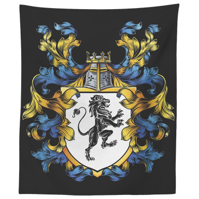 Coat of Arms Crest Wall Tapestry