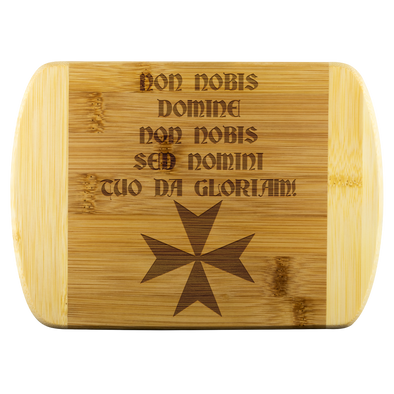 Non Nobis Domine! + Maltese Cross Wood Cutting Board