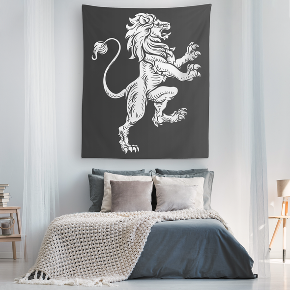 Lion Heraldry Wall Tapestry