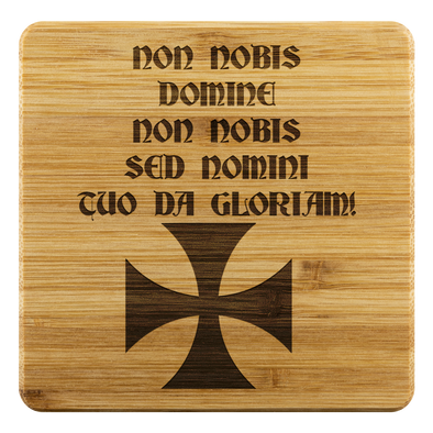 Non Nobis Domine! + Red Templar Cross Coasters