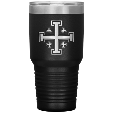 Jerusalem Cross 30 Ounce Vacuum Tumbler