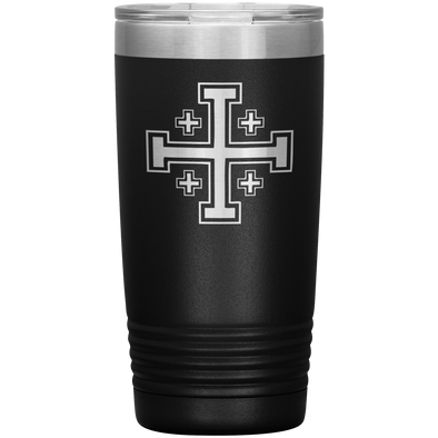 Jerusalem Cross 20 Ounce Vacuum Tumbler