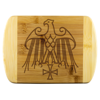 Geraldic Eagle Templar Cross Wood Cutting Board