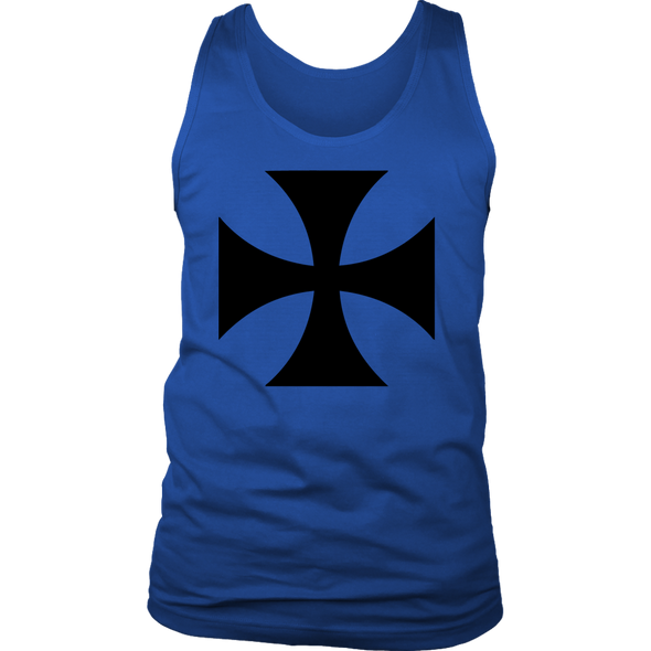 Black Templar Cross District Mens Tank