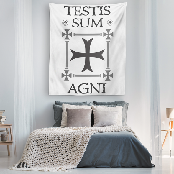 Testis Sum Agni Wall Tapestry