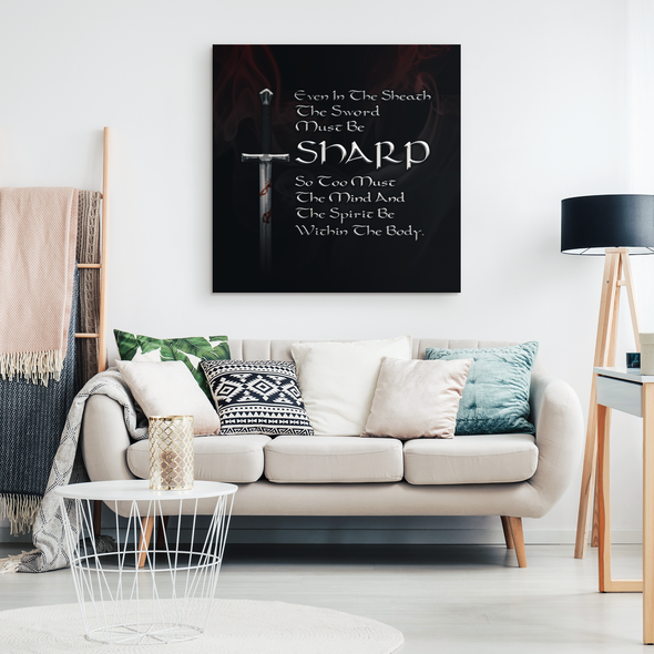 Warrior Motto Wall Canvas