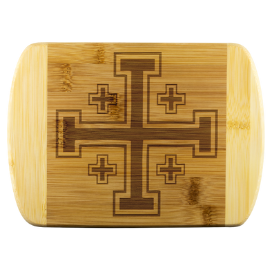 Jerusalem Cross Wood Cutting Board