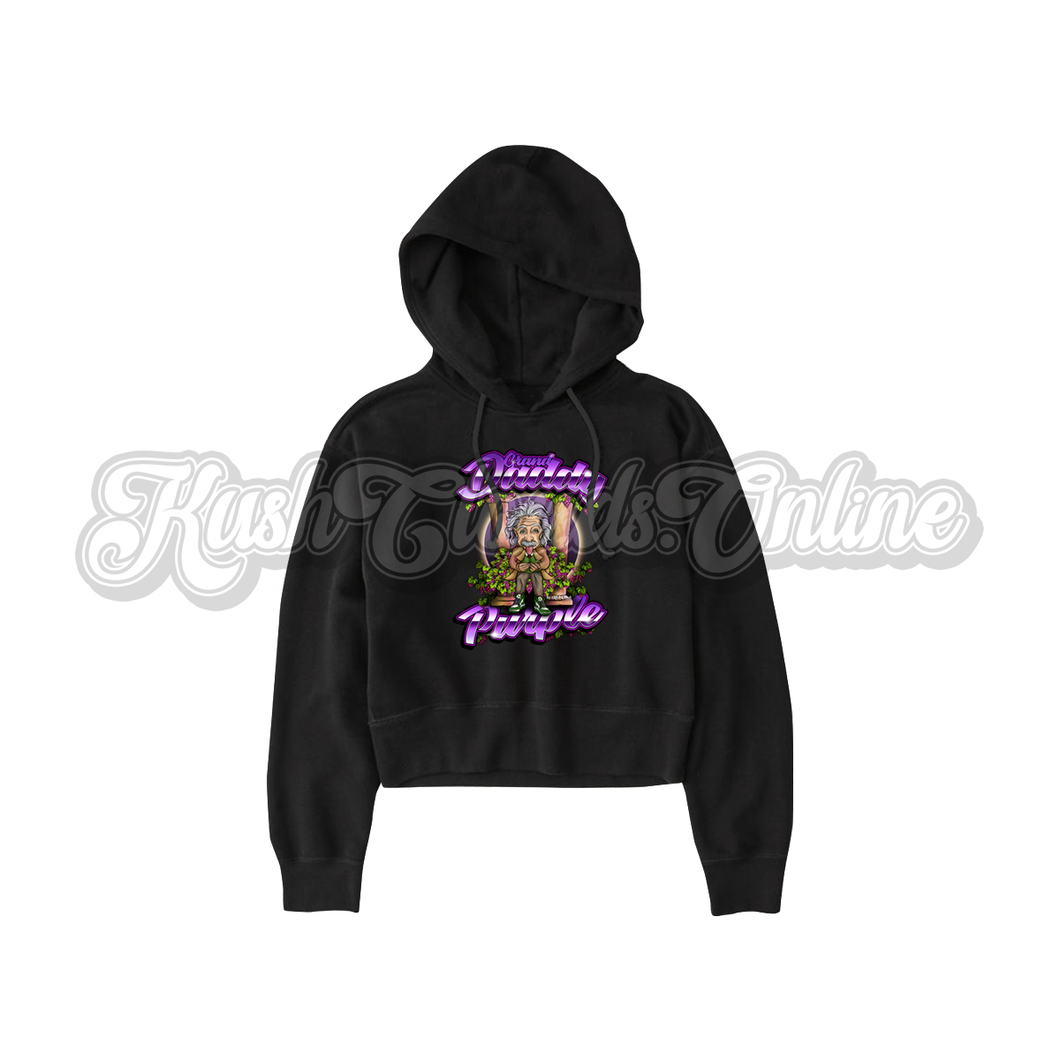 Grandaddy Purple Crop Top Hoodie